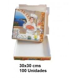 CAJA PIZZA 30*30 PAQ100U