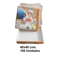 CAJA PIZZA 40*40 PAQ 100U