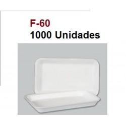 BANDEJAS PLASTICO POREX F-60 PAQ 1000UNID