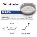 BANDEJAS ALUMINIO MEDIO POLLO REDONDO S.NEV 980 ML 100 UNID