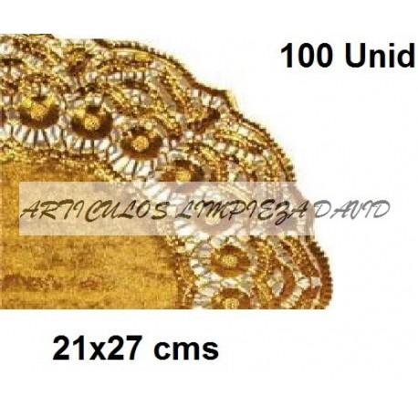 BLONDAS CIRCULARES ORO 21*27 CMS 100UNID