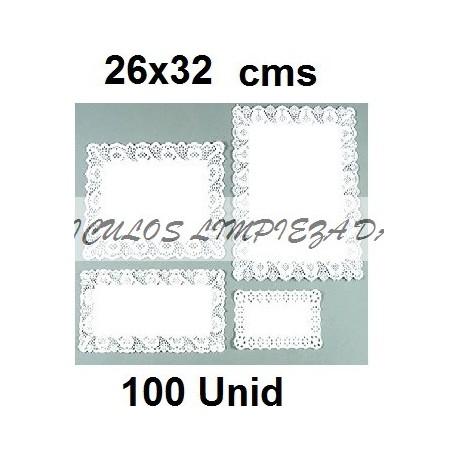 BLONDAS RECTANGULARES 26 *32 CM 100 UNID