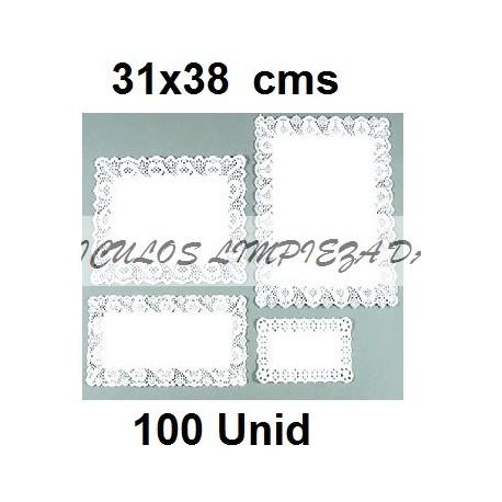 BLONDAS RECTANGULARES 31 *38 CM 100 UNID
