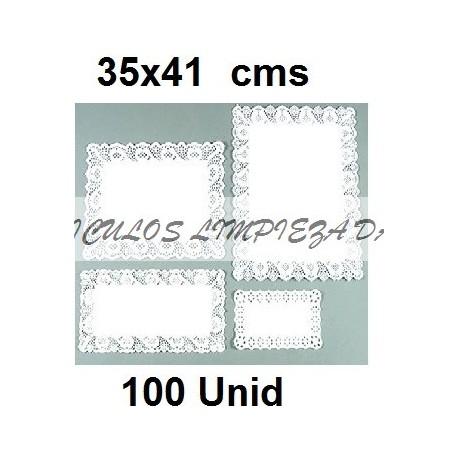 BLONDAS RECTANGULARES 35 *41 CM 100 UNID
