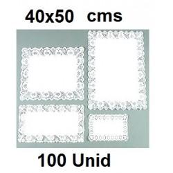 BLONDAS RECTANGULARES 40 *50 CM 100 UNID