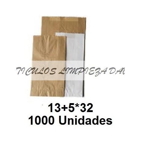 BOLSAS PAPEL PAN 13+5*32 1000 U
