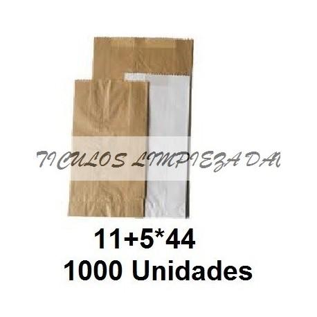 BOLSAS PAPEL PAN 11+5*44 1000U