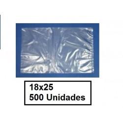 BOLSAS TRANSPARENTES 18*25 500U