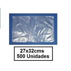 BOLSAS TRANSPARENTES 27*32 500U