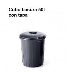 CUBO BASURA INDUSTRIAL NEGRO 50L