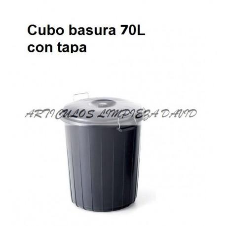 CUBO BASURA INDUSTRIAL NEGRO 70L