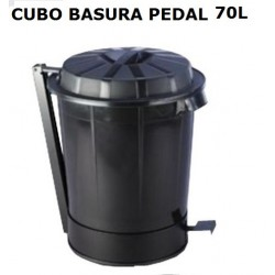 CUBO BASURA INDUSTRIAL CON TAPA Y PEDAL GOLIAT 70L
