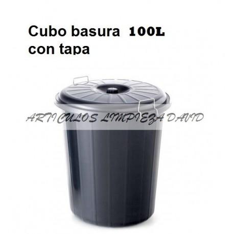 CUBO BASURA NEGRO 100L