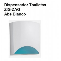 DISPENSADOR DE  TOALLETAS WC ZIG-ZAG ABS BLANCO