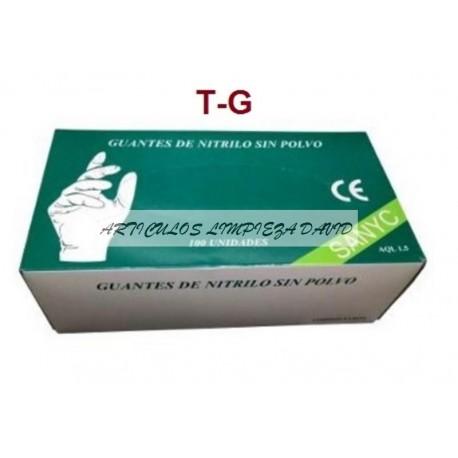 GUANTES NITRILO  SANYC  T-G 100UNID