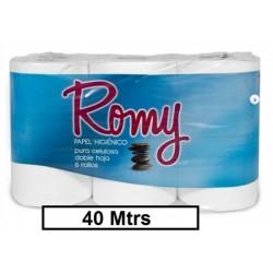 HIGIENICO ROMY 40M 1U 2/H (PAQUETES DE 6 UNID)