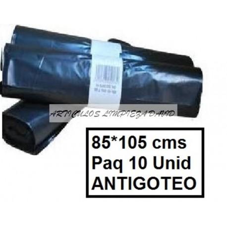 SACOS INDUSTRIALES 85*105 NEGROS ANTI GOTEO PAQ10U
