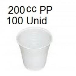 VASO BLANCO 200CC PP 100U