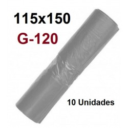 SACOS INDUSTRIALES 115*150 G-120 COLOR GRIS  10U