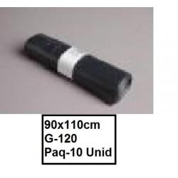 SACOS INDUSTRIALES 90*110 G-120 NEGROS PAQ10U