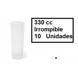 VASO TUBO INYECTADO 330 CC  PP 10/UNIDADES