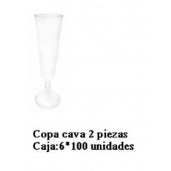 CAJA VASOS COPA CAVA PS 2 PIEZAS 120 ML 600 UNID