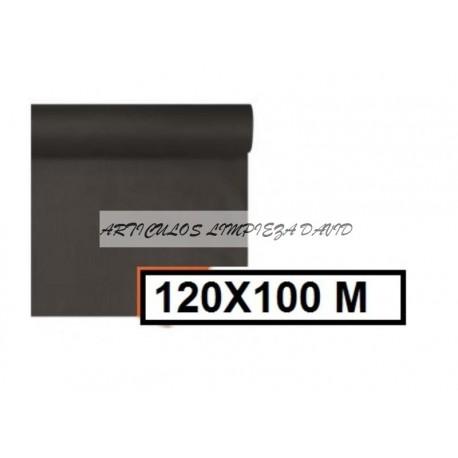 MANTEL ESTOLA EN ROLLO POLIPROPILENO NEGRO 120*100