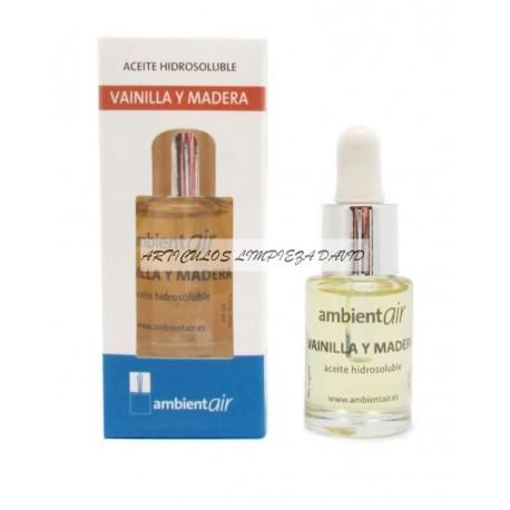 ACEITE HIDROSOLUBLE VAINILLA  Y MADERA 15 ML