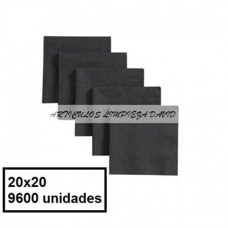 SERVILLETAS CAJA TISSUE 20*20 2C NEG 9600U