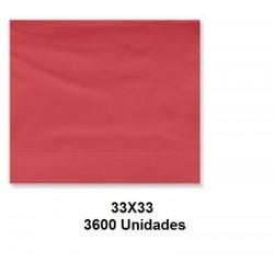 SERVILLETAS CAJA TISSUE 33*33 2C ROJA 3600UNID