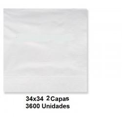 SERVILLETAS CAJA TISSUE  34*34 2C BLCO 3600U 215