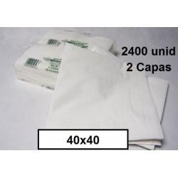 SERVILLETAS CAJA TISSUE 40*40 2C BLCO 2400 UNID 215