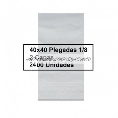 SERVILLETAS CAJA TISSUE 1/8 40*40 2/C BLCO 2400U