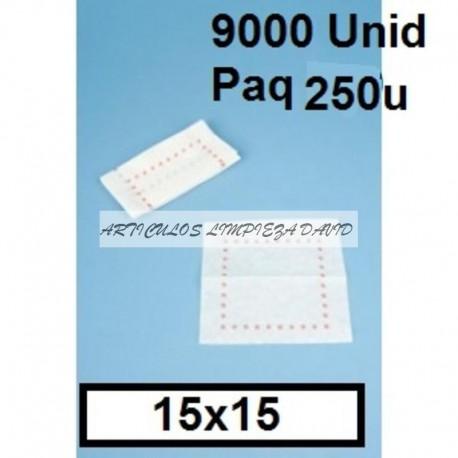 SERVILLETAS CAJA 15*15 ZIG-ZAG 9000U PAQ300