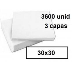 SERVILLETAS CAJA 30*30 3C BLCO 3600U 214