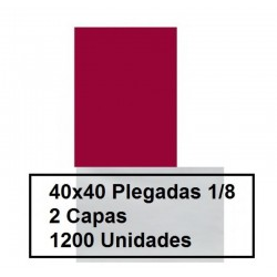 SERVILLETAS CAJA PP 1/8 40*40 2C COLOR 1200U