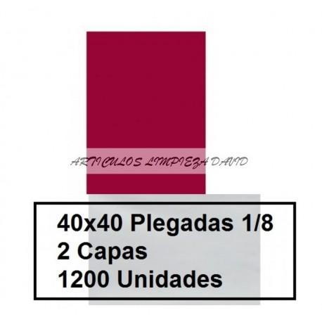SERVILLETAS CAJA PP 1/8 40*40 2C COLOR 1200U