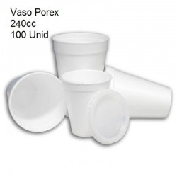 VASO POREX 240CC 100U