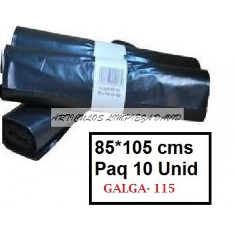 SACOS INDUSTRIALES 85*105 NEGROS G-110 PAQ10U