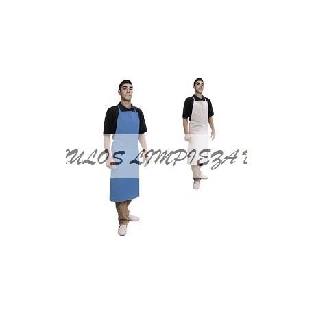 DELANTAL PVC BLANCO CON PETO EXTRA 70*105 CM