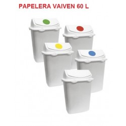 PAPELERA RECTANGULAR LIBRA VAIVEN 60 L