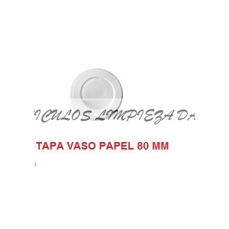 TAPA VASO PAPEL 80MM PEQ  100 UNID