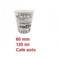 VASO PAPEL COFFE 60MM CAJA DE 20 PAQ/50 UNID