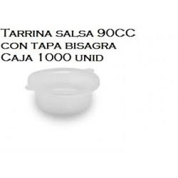 TARRINA 90 ML PARA SALSA CON TAPA  TRANSP 100UNID