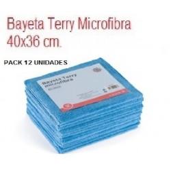 BAYETAS TERRY MICROFIBRA 36*40  AZUL 12 UNIDADES