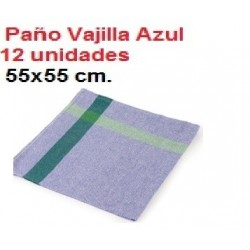 PAÑOS COCINA AZUL PLA 12U