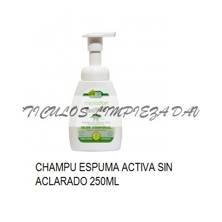 CHAMPU PERROS ESPUMA SECA MICRODOR FOAM 250ML