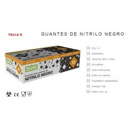 GUANTE  NITRILO NEGRO TALLA GRANDE-100 UNIDADES