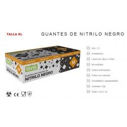 GUANTE  NITRILO NEGRO TALLA XL-100 UNIDADES