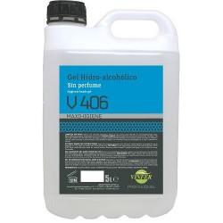 GEL HIDRO-ALCOHOLICO V406 GARRAFA 5KG